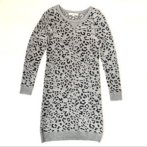 LOFT Winter Leopard Dress
